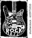 hard rock music poster | Shutterstock .eps vector #635971010