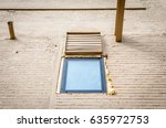 isolated window on brick wall.... | Shutterstock . vector #635972753