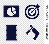 market icons set. set of 4...
