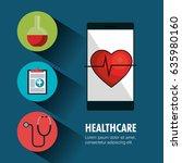 digital healthcare technology... | Shutterstock .eps vector #635980160