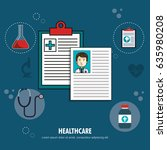 medical healthcare flat icons | Shutterstock .eps vector #635980208