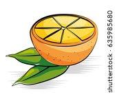 orange fresh and healthy fruit | Shutterstock .eps vector #635985680