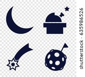 astronomy icons set. set of 4... | Shutterstock .eps vector #635986526