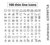 set of editable line icons....