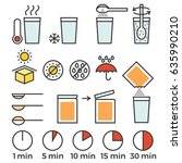 cooking sign instruction for... | Shutterstock .eps vector #635990210