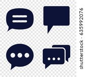 dialog icons set. set of 4... | Shutterstock .eps vector #635992076