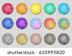 vector glossy paint drops... | Shutterstock .eps vector #635995820