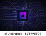 vector micro chip  micro scheme ... | Shutterstock .eps vector #635995979