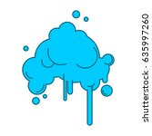 cloud abstract with rain...   Shutterstock .eps vector #635997260