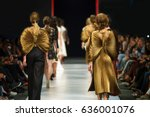 defile on fashion show  | Shutterstock . vector #636001076