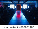 empty runway before fashion... | Shutterstock . vector #636001103