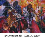 artist roman nogin. sale ... | Shutterstock . vector #636001304