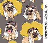 seamless pattern with cartoon...   Shutterstock .eps vector #636002204