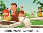 a vector illustration of... | Shutterstock .eps vector #636005816