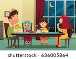 a vector illustration of muslim ... | Shutterstock .eps vector #636005864