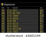 airport departures board | Shutterstock .eps vector #63601144
