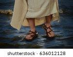View Of Jesus Feet Walking On...