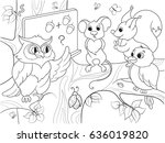 lesson in the school of an owl...   Shutterstock .eps vector #636019820