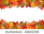 autumn falling leaves  isolated ... | Shutterstock .eps vector #63602158