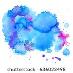 colorful abstract watercolor... | Shutterstock .eps vector #636023498