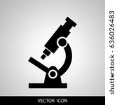 microscope icon. isolated sign... | Shutterstock .eps vector #636026483