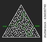 triangular maze game background....   Shutterstock .eps vector #636030740