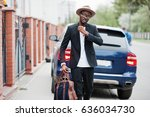 stylish black man at glasses... | Shutterstock . vector #636034730