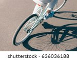 view from the back girl rides a ...   Shutterstock . vector #636036188