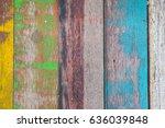 old wooden texture. | Shutterstock . vector #636039848