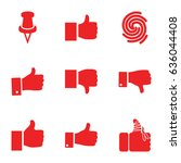 thumb icons set. set of 9 thumb ... | Shutterstock .eps vector #636044408