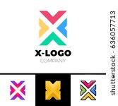 letter x logo design concept... | Shutterstock .eps vector #636057713