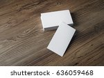 mockup of blank business cards... | Shutterstock . vector #636059468