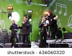 Small photo of MOSCOW - MAY 08, 2017: Free entrance open public concert in Gorky park in Moscow, Moscow Summer a capella festival.