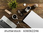 freelance working environment... | Shutterstock . vector #636062246