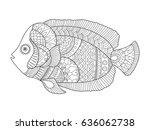 angel fish coloring book vector ...