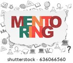 learning concept  painted...   Shutterstock . vector #636066560
