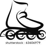 roller skate | Shutterstock .eps vector #63606979