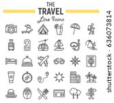 travel line icon set  tourism... | Shutterstock .eps vector #636073814