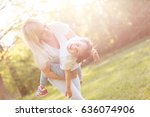 mother turned her daughter in... | Shutterstock . vector #636074906