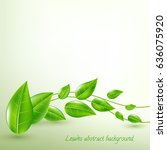 background with beautiful green ... | Shutterstock .eps vector #636075920