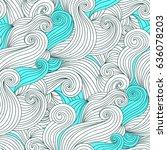 wave seamless pattern... | Shutterstock .eps vector #636078203