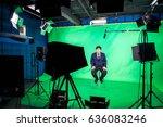 behind the scenes of tv movie... | Shutterstock . vector #636083246