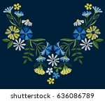 vector design for collar t... | Shutterstock .eps vector #636086789