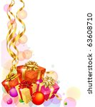 christmas decoration with... | Shutterstock .eps vector #63608710
