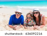 family beach vacation | Shutterstock . vector #636092216
