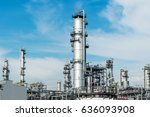 oil and gas industry refinery... | Shutterstock . vector #636093908