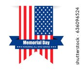 honoring all who served  happy... | Shutterstock .eps vector #636096524