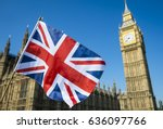 United kingdom flag waving in...