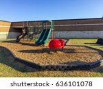 typical american elementary... | Shutterstock . vector #636101078