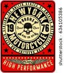 motorcycle label t shirt design ... | Shutterstock .eps vector #636105386